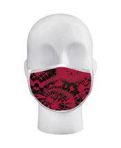 Red Tie Dye Face Mask