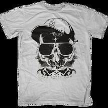 Hipster Skull Bad Bones Crew T-Shirt