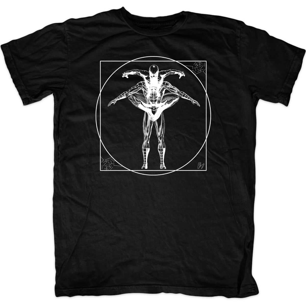 4ff22e09 ... Vitruvian Spiderman T-Shirt. Image 1. Loading zoom