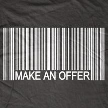 Make Me an Offer Barcode T-Shirt