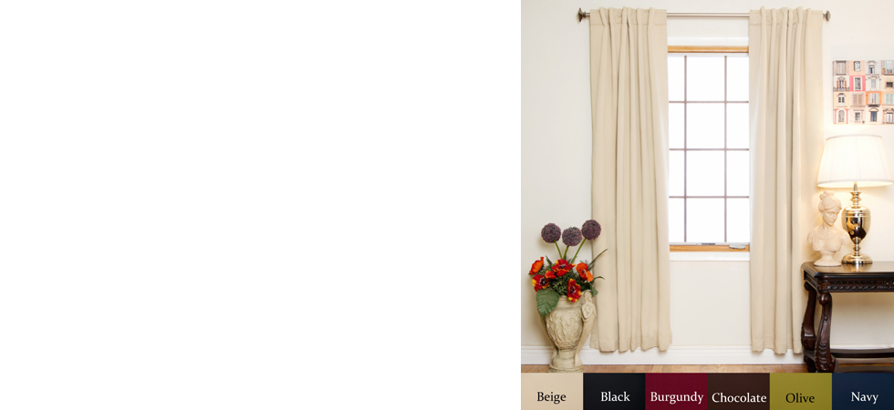 Rod Pocket Blackout Curtain 84 Inch Length