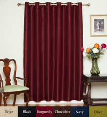 Burgundy Nickel Grommet Top Blackout Curtain 80 Inch by 108 Inch Panel