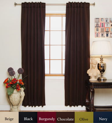 Chocolate Rod Pocket Blackout Curtain 84 Inch Length