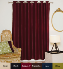 Burgundy Antique Brass Grommet Top Blackout Curtain 80 Inch by 108 Inch Panel