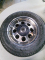 "NOS 10"" Steel Wheel w/ Tire, Tube and 5/8"" Bearings"