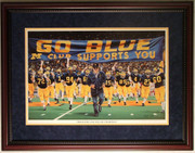"""Those Who Stay Will Be Champions"" Bo Schembechler U of M Football Print Framed By Hess"