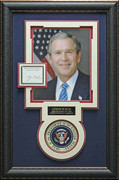 George Bush Autographed Collage