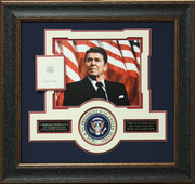 Ronald Reagan Autographed Bookplate
