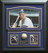 Mickey Mantle Signed Baseball Framed