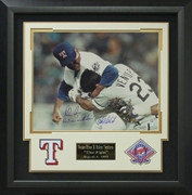 Nolan Ryan vs Robin Ventura Signed The Fight Photo