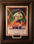 Carl Yazstremski Autographed 3000hit 400hr Limited Edition Print Framed