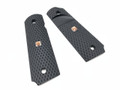 1911 Grip Panels, Black, Signature Inlay