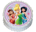 Tinkerbell and the Fairies 16cm Round licensed topper