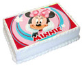 Minnie Mouse A4 licensed topper