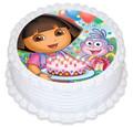 Dora 16cm Round licensed topper