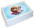 Frozen sisters A4 licensed topper