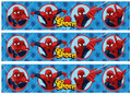 Spiderman cake strips