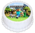 Minecraft 16cm Round licensed topper