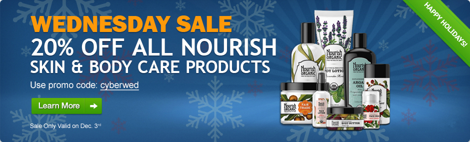 Save 20% on all Nourish Products