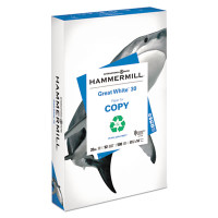 Hammermill Recycled Great White Copy Paper,  8 1/2'' x 14'', 20 lb,  Ream/500 Sheets