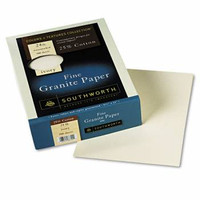 Southworth Fine Granite Paper, 8 1/2'' x 11'', 24 lb, 50% PCR,  Box/500 Sheets