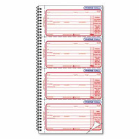 Tops Second Nature Phone Call Book, 5 1/2'' x 11'' Book, 30% PCR, Book/400 Forms