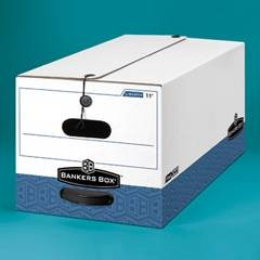 Banker's Box Liberty Max Strength Storage Box, Letter Size, 15w X 10h X 24d, 59% PCR, Carton/12 Boxes