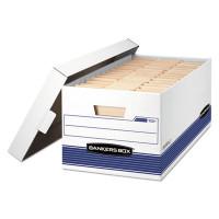 Banker's Box FastFold Stor/File Lid Box, Letter Size, 15w X 10h X 24d, 59% PCR, Carton/12 Boxes