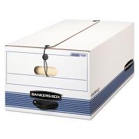 Banker's Box FastFold Stor/File Box, Button-Tie, Legal Size, 15w X 10h X 24d, 59% PCR, Carton/12 Boxes