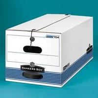 Banker's Box FastFold Stor/File Box, Button-Tie, Letter Size, 15w X 10h X 24d, 59% PCR, Carton/12 Boxes