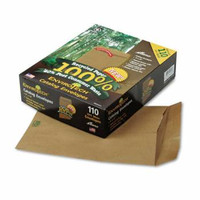 9x12 Envirotech Catalog Envelope, 60 lb., Gummed, Side Seam, Kraft, 110/Box