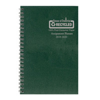 House of Doolittle (HOD274RTG06) Academic Planner with Leatherette Cover, Green 5 x 8