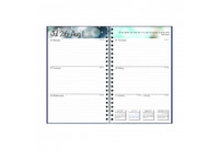 House of Doolittle (HOD274RTG07) Academic Planner with Leatherette Cover, Blue 5 x 8