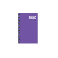 House of Doolittle (HOD274RTG29) Academic Planner with Vibrant Vinyl Cover, Purple 5 x 8