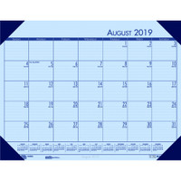 House of Doolittle (HOD012540) Compact Academic Desk Pad Calendar, Blue 18-1/2 x 13