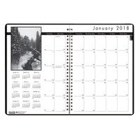 House of Doolittle (HOD216202) Black on White Monthly Format Planner 8-1/2 x 11