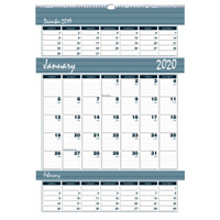 House of Doolittle (HOD343) Bar Harbor Triple Month Wall Calendar 15-1/2 x 22