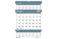 House of Doolittle (HOD343) Bar Harbor Triple Month Wall Calendar 15-1/2 x 22