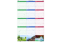 House of Doolittle (HOD393) Earthscapes Yearly/Erasable Laminated Planner 24 x 37