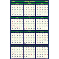 House of Doolittle (HOD390) Four Seasons Reversible Planner 24 x 37