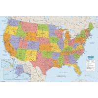 House of Doolittle (HOD720) Laminated United States Map 50 x 33