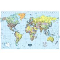 House of Doolittle (HOD711) Laminated World Map 38 x 25