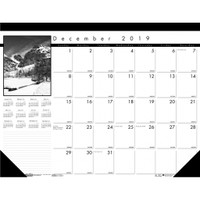 House of Doolittle (HOD122) Earthscapes Black on White Desk Pad Calendar 22 x 17
