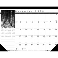 House of Doolittle (HOD1226) Earthscapes Black on White Desk Pad Calendar 18-1/2 x 17