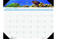 House of Doolittle (HOD193) Earthscapes Sea Life Desk Pad Calendar 22 x 17