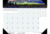 House of Doolittle (HOD176) Earthscapes Mountain of the World Desk Pad 22 x 17