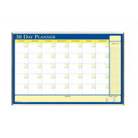 House of Doolittle (HOD6661) 30-Day Laminated Planner in Aluminum Frame 40 x 26