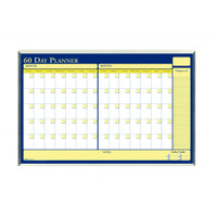 House of Doolittle (HOD6653) 60-Day Laminated Planner in Aluminum Frame 32 x 21-1/2