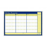 House of Doolittle (HOD6655) 90-Day Planner in Aluminum Frame 32 x 21-1/2