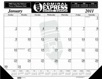 House of Doolittle Custom-Printed Desk Pad Calendar (Ordering Minimum is 500)